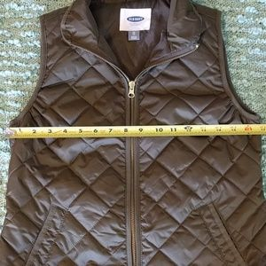 Swapdrobe Jackets & Coats - Olive Fitted Quilted Puffer Vest